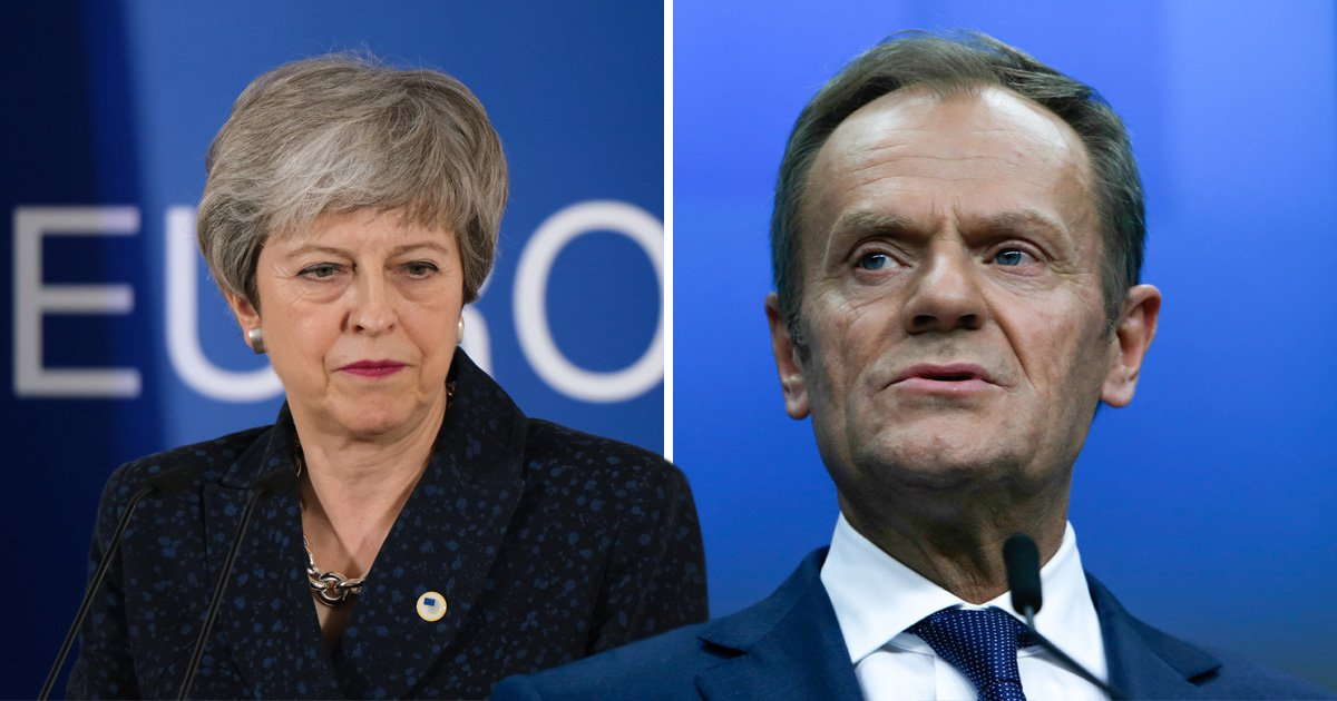 Donald Tusk says there's 'a lot of space' in hell for people pushing no-deal Brexit