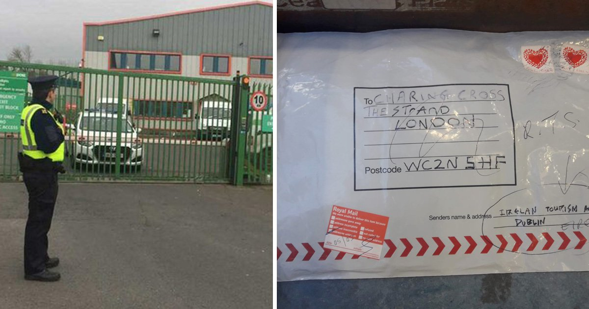 Parcel bomb found in Irish postal depot linked to London and Glasgow explosives