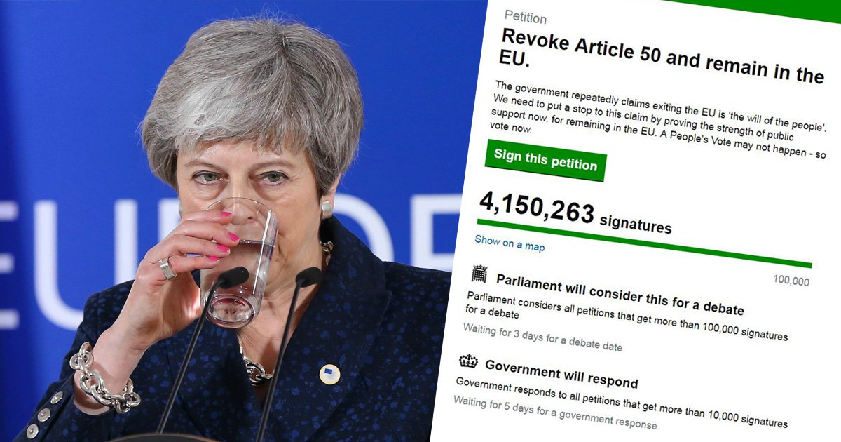 Revoke Article 50 is now most popular Parliamentary petition in history