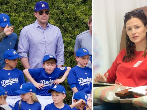 Ben Affleck turns out to coach son Samuel's Little League team… while Jennifer Garner gets pampered