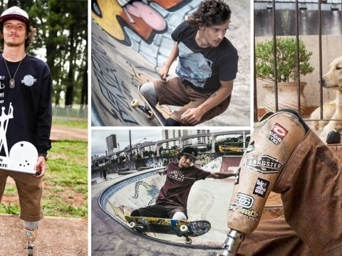 Double amputee skateboarder does insane tricks without his prosthetic legs