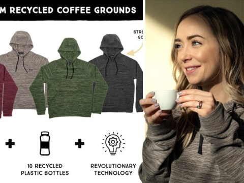 These sustainable hoodies are made from plastic bottles and coffee grounds