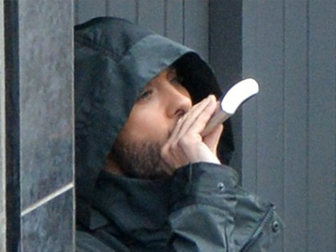 Jared Leto swigs hip flask in busy Manchester street as he films Spider-Man spin-off Morbius