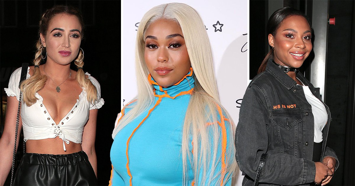 Jordyn Woods is joined by Love Island stars Georgia Harrison and Samira Mighty at Eylure launch in London