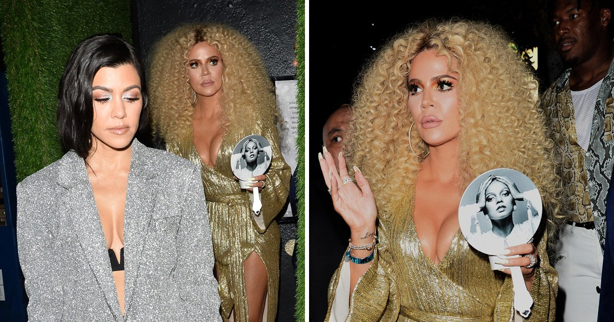 Khloe Kardashian goes all out with Diana Ross tribute as she credits bra for 'iconic cleavage'