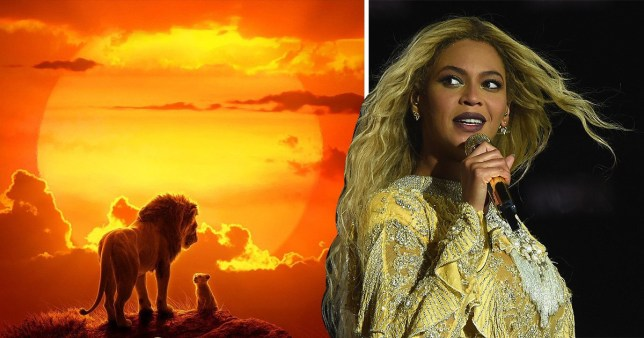Beyonce as Nala in Lion King