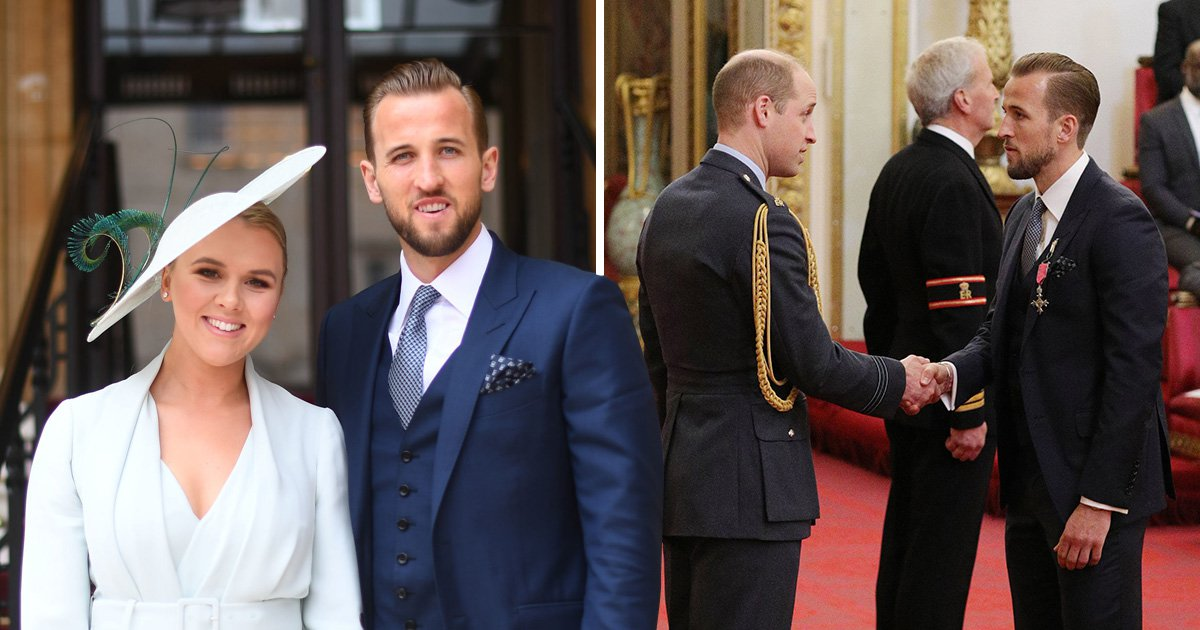 Harry Kane receives MBE from Prince William after England's World Cup run