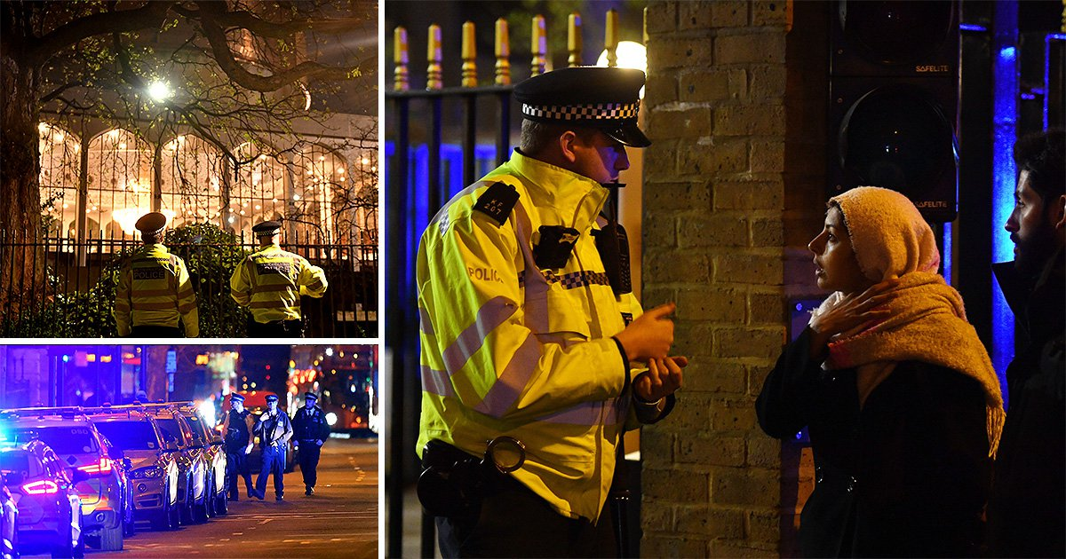 Man stabbed to death as armed police swoop on London Central Mosque