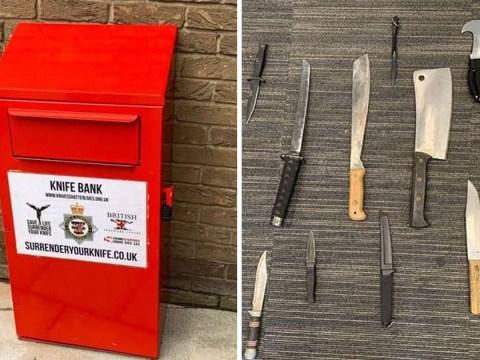 Hunt for gang who ransacked knife amnesty bin