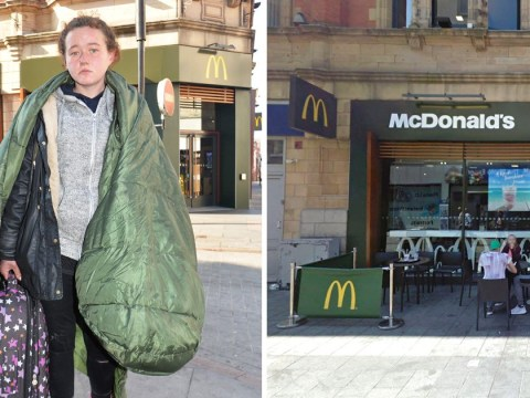 Homeless teen 'left soaking after McDonald's worker threw water at her'