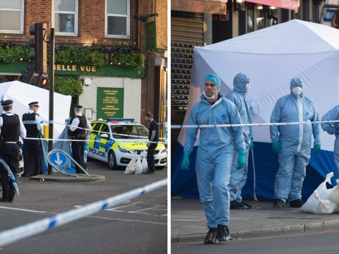 Hunt for 'laughing' killers who stabbed man in 40s through car window