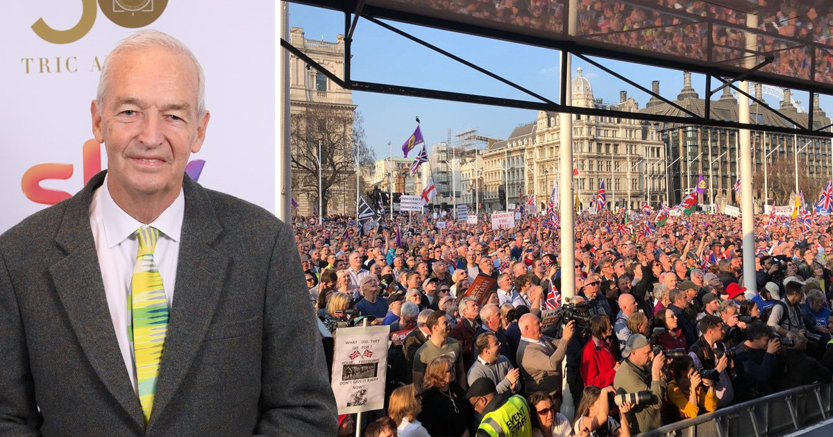 Jon Snow says 'I've never seen so many white people' at Leave rally