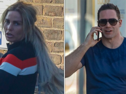 Katie Price and ex Kieran Hayler appear civil as they reunite for son Jett's first haircut