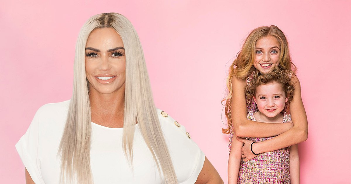 Katie Price's children model new clothing lines and they're a chip off the old block