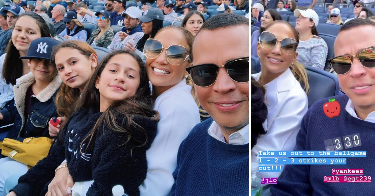 Jennifer Lopez and A-Rod enjoy family day out with the kids at Yankees game
