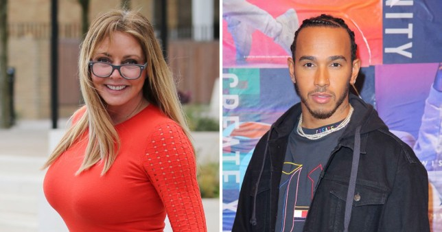 Carol Vorderman and Lewis Hamilton unlikely pals as Countdown star praises F1 in sweet story