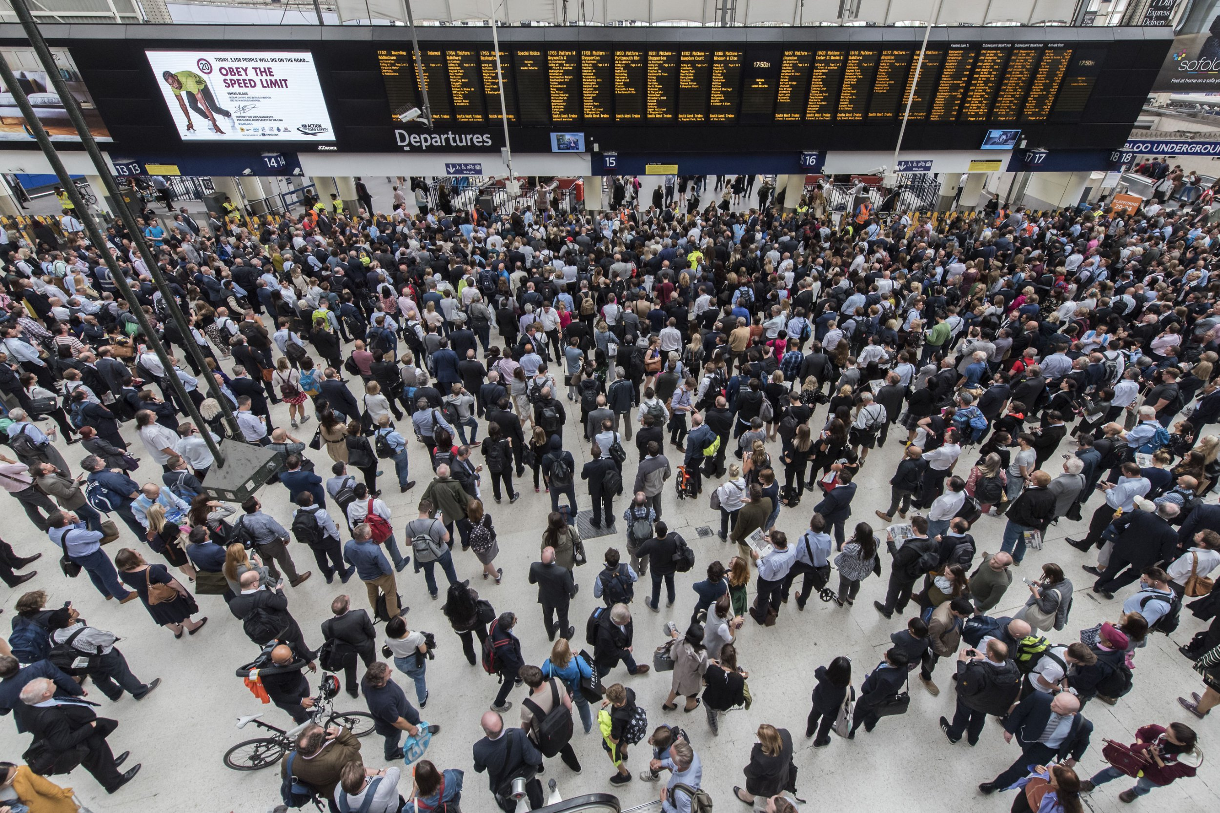Major disruption at London Waterloo train station to last until the afternoon