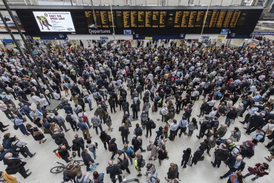 Mandatory Credit: Photo by Guy Bell/REX/Shutterstock (8985747o) Crowds reach a peak after six o'clock - Ten platforms are closed at Waterloo Station for the whole of August for an upgrade to platforms. Waterloo Station upgrades, London, UK - 07 Aug 2017