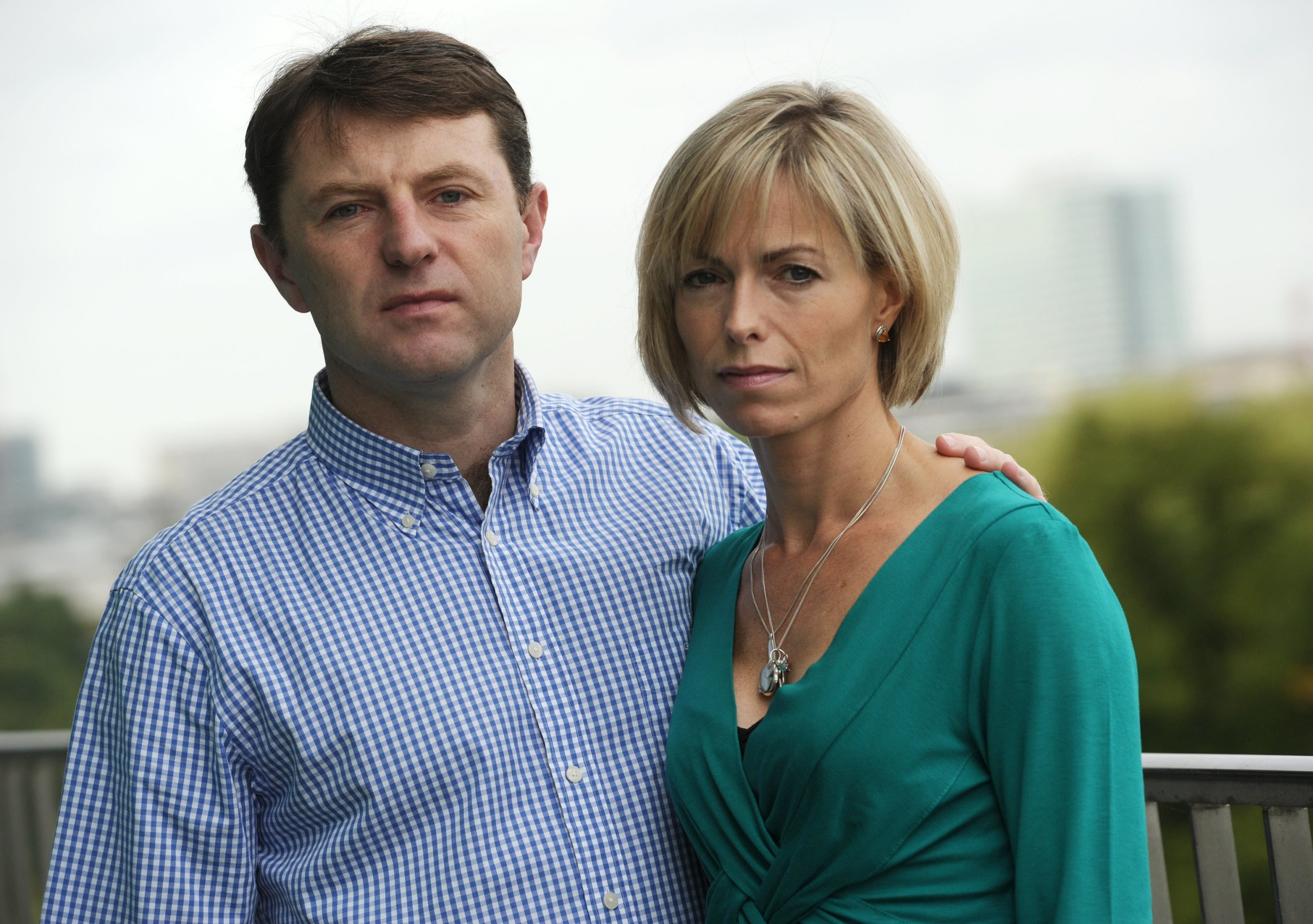 The parents of the missing girl Maddie, Kate and Gerry McCann, present their new book at a hotel in Hamburg, Germany, 16 September 2011. Maddie, Madeleine McCann disappeared four years ago without a trace from the families hotel room. In an extraordinary campaign, the parents tried to find her, but without results. Now they speak about their time of suffering, their hopes and throwbacks in their book 'Madeleine. Our daughters disappearance and the continuing search for her' by Kate McCann. Photo: Christian Charisius