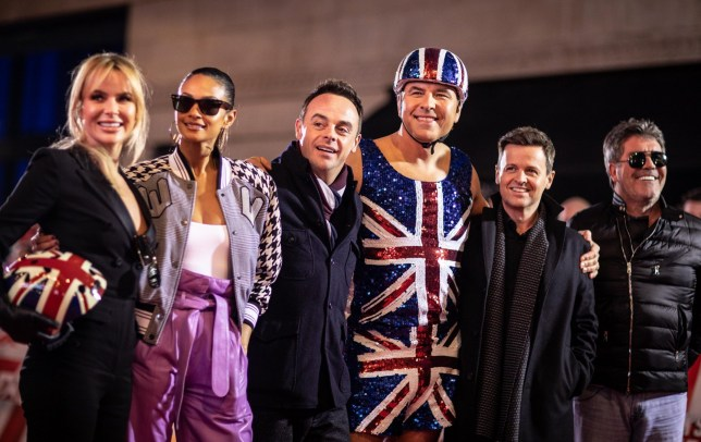Editorial use only. No book publishing. Mandatory Credit: Photo by Dymond/Thames/Syco/REX (10069195h) Simon Cowell, David Walliams, Amanda Holden, Alesha Dixon and Ant McPartlin and Declan Donnelly at Britain's Got Talent auditions