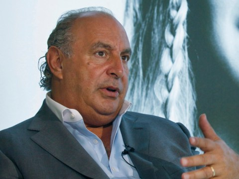 Sir Philip Green filmed calling colleague 'naughty' and stroking her hair