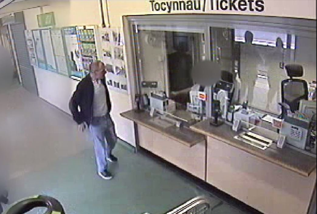 BEST QUALITY AVAILABLE Handout file CCTV image dated 02/08/18 issued by Gwent Police of child killer David Gaut as he buys train tickets around 11.39am at Caerphilly Train Station in south Wales, hours before he was killed by his neighbour Ieuan Harley who has been found guilty of his murder. PRESS ASSOCIATION Photo. Issue date: Monday February 18, 2019. See PA story COURTS Gaut. Photo credit should read: Gwent Police/PA Wire NOTE TO EDITORS: This handout photo may only be used in for editorial reporting purposes for the contemporaneous illustration of events, things or the people in the image or facts mentioned in the caption. Reuse of the picture may require further permission from the copyright holder.