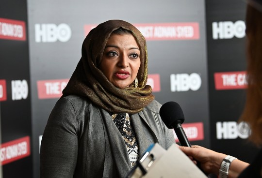 "NEW YORK, NY - FEBRUARY 26: Participant/producer Rabia Chaudry attends NY premiere of HBO's ""The Case Against Adnan Syed"" at PURE NON FICTION on February 26, 2019 in New York City. (Photo by Slaven Vlasic/Getty Images for HBO)"