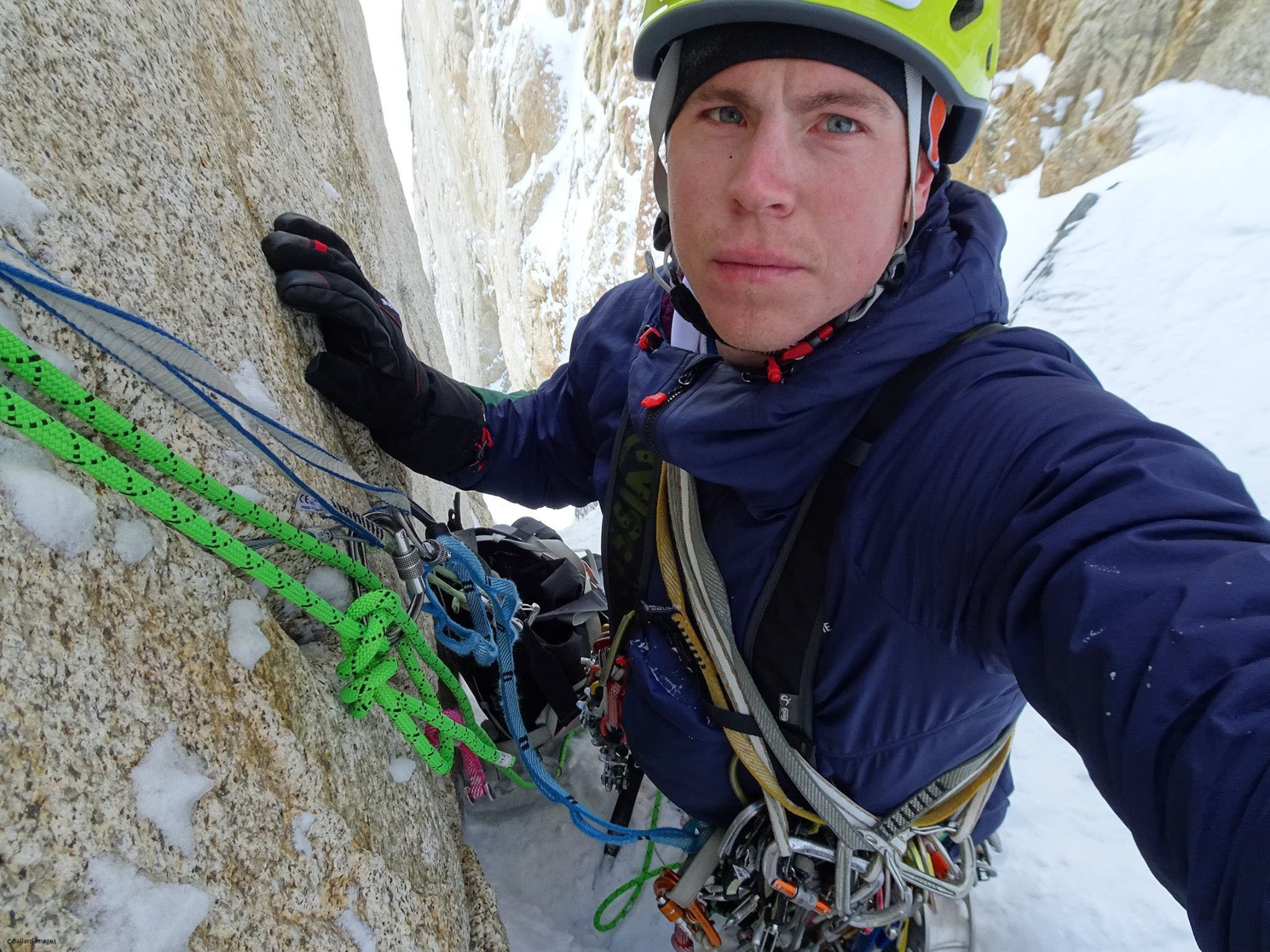 """Image of Tom Ballard - A British climber whose mother died on K2 has been reported missing on a peak in Pakistan. Tom Ballard and Italian climber Daniele Nardi are trying to reach the summit of Nanga Parbat - nicknamed """"Killer Mountain"""". The last contact from the pair was on Sunday, from an altitude of about 6,300m (20,669 ft). A search operation has been delayed amid tensions between Pakistan and India. Mr Ballard, from Derbyshire, is an experienced climber and the first person to solo climb all six major north faces of the Alps in one winter. He is the son of Alison Hargreaves, who was the first woman to conquer Everest unaided in 1995. Picture: Universal News And Sport (UK) 27/02/2019"""