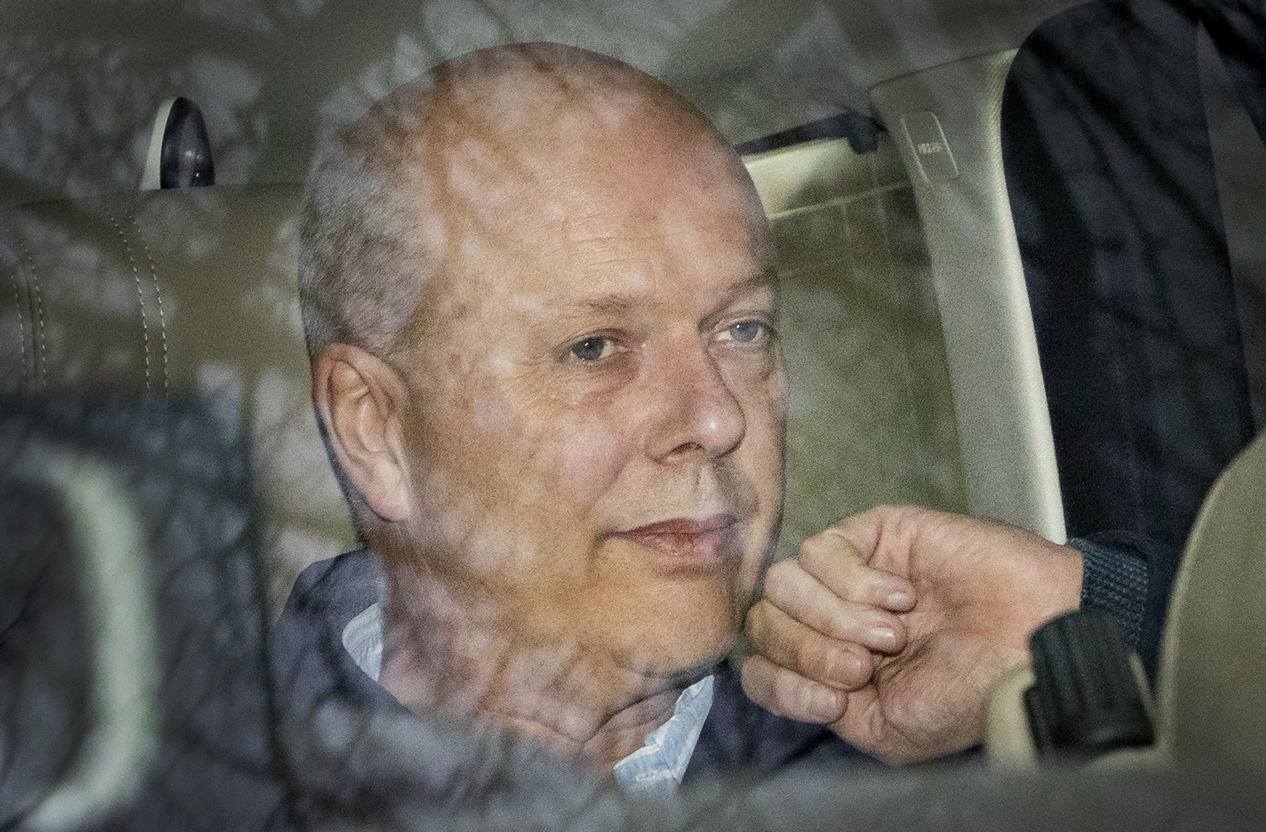 ? Licensed to London News Pictures. 02/03/2019. Ashtead, UK. Transport Secretary Chris Grayling is driven from his home. Mr Grayling has been criticised after it was revealed that the government has paid ?33 million to Eurotunnel in a legal dispute over post Brexit ferry contracts. Photo credit: Peter Macdiarmid/LNP