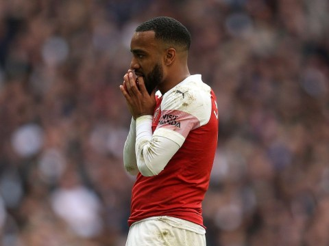 Unai Emery fires warning to Alexandre Lacazette after Arsenal's draw against Tottenham
