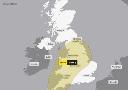 Storm Freya - Met Office Weather Warning