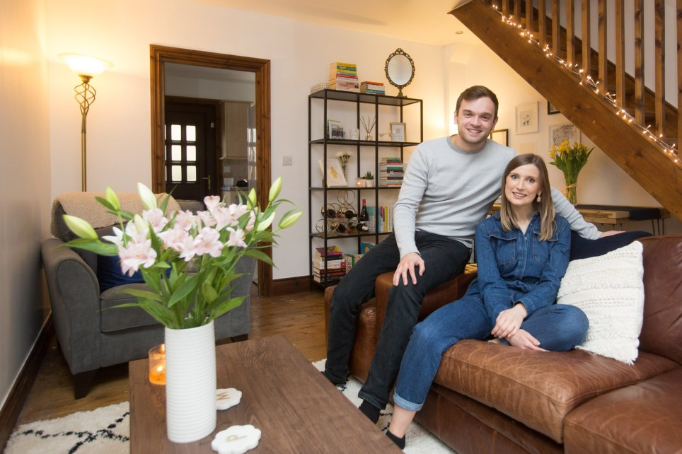 Pippa Artus and her boyfriend Michael Connor at their home in Walthamstow, North London.