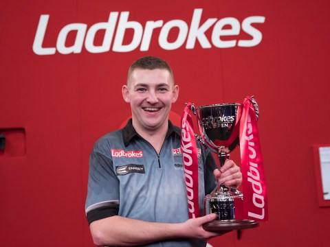 Fellow pro darts players rush to congratulate Nathan Aspinall on shock UK Open win