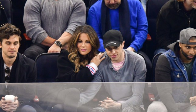 Mandatory Credit: Photo by JD Images/REX (10129783t) Kate Beckinsale and Pete Davidson New York Rangers v Washington Capitals, NHL match, New York, USA - 03 Mar 2019