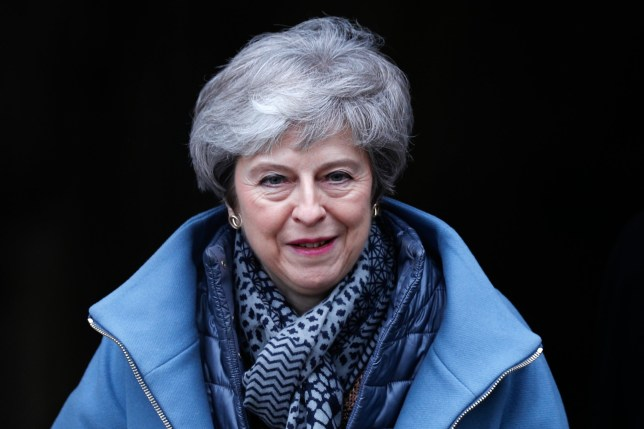 SALISBURY, ENGLAND - MARCH 4: British Prime Minister Theresa May leaves Salisbury Cathedral during a visit on March 4, 2019 in Salisbury, England. The Prime Minister visited the historic city of Salisbury one year since the nerve agent attack on Russian ex-spy Sergei Skripal. (Photo by Adrian Dennis - WPA Pool/Getty Images)