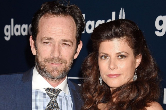 Mandatory Credit: Photo by Broadimage/REX/Shutterstock (8561466ci) Luke Perry and Wendy Madison Bauer 28th Annual GLAAD Media Awards, Arrivals, Los Angeles, USA - 01 Apr 2017 28th Annual GLAAD Media Awards in LA - Arrivals