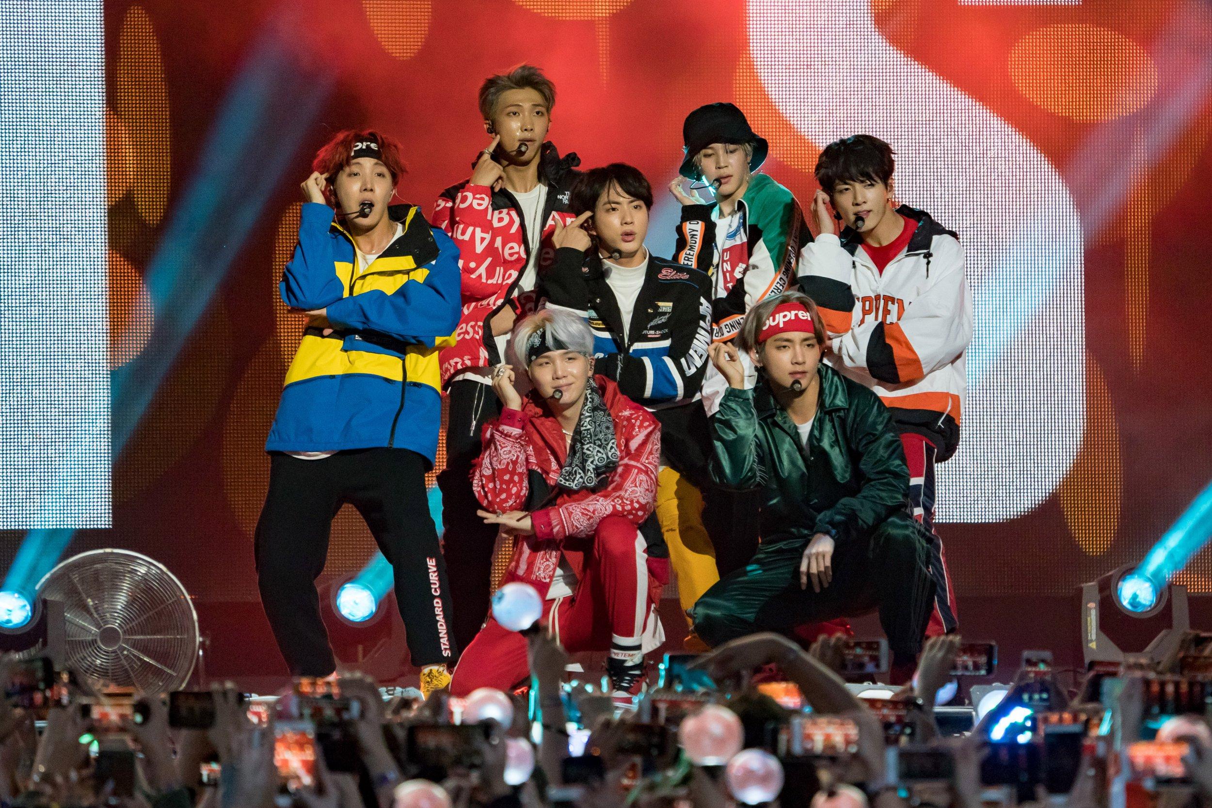 Korean K-pop band BTS