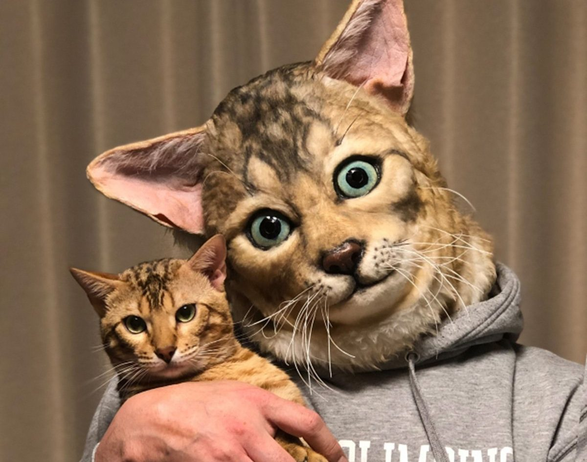 You can buy human size replica masks of your pet's face and we're both amazed and terrified
