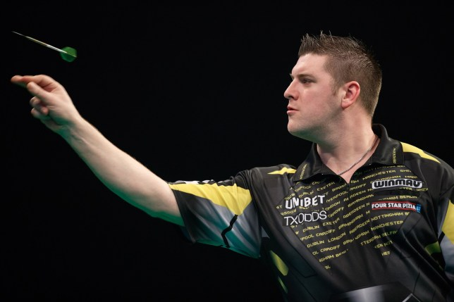 2019 Unibet Premier League Darts: Night Five- March 7 2019 The BHGE Arena: Aberdeen: Daryl Gurney v James Wade pic shows: Gurney in action