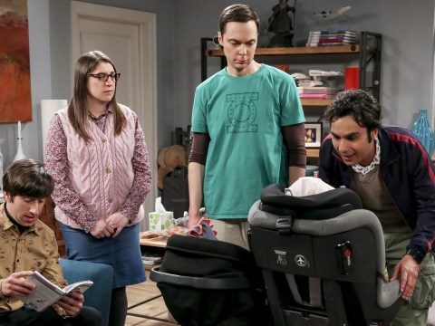 The Big Bang Theory's Mayim Bialik reveals creepy behind-the-scenes photo of Howard Wolowitz's baby