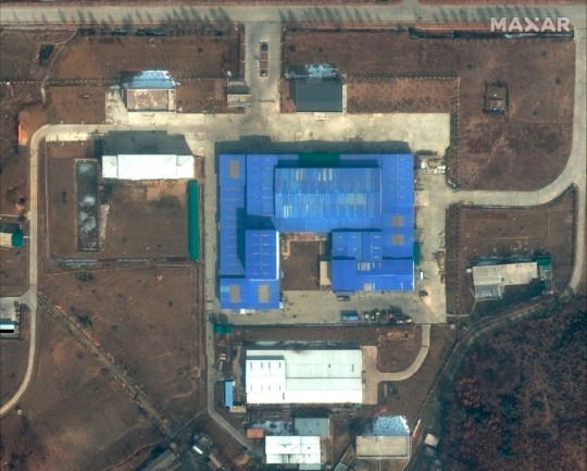 This satellite image captured on Feb. 22, 2019 and provided by DigitalGlobe, shows Sanumdong research center on the outskirts of Pyongyang, North Korea. South Korea's military said it is carefully monitoring North Korean nuclear and missile facilities after the country's spy agency told lawmakers that new activity was detected at a research center where the North is believed to build long-range missiles targeting the U.S. mainland. (DigitalGlobe, a Maxar company, via AP)