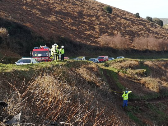 Driver lucky to be alive after crashing off cliff A39 in