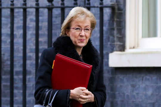 LONDON, UNITED KINGDOM - 2019/01/22: Andrea Leadsom - Lord President of the Council and Leader of the House of Commons is seen departing from No 10 Downing Street after attending the weekly Cabinet Meeting. (Photo by Dinendra Haria/SOPA Images/LightRocket via Getty Images)