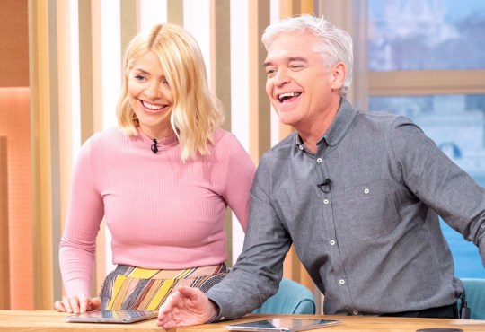 Editorial use only Mandatory Credit: Photo by Ken McKay/ITV/REX (10150325bu) Holly Willoughby and Phillip Schofield 'This Morning' TV show, London, UK - 11 Mar 2019