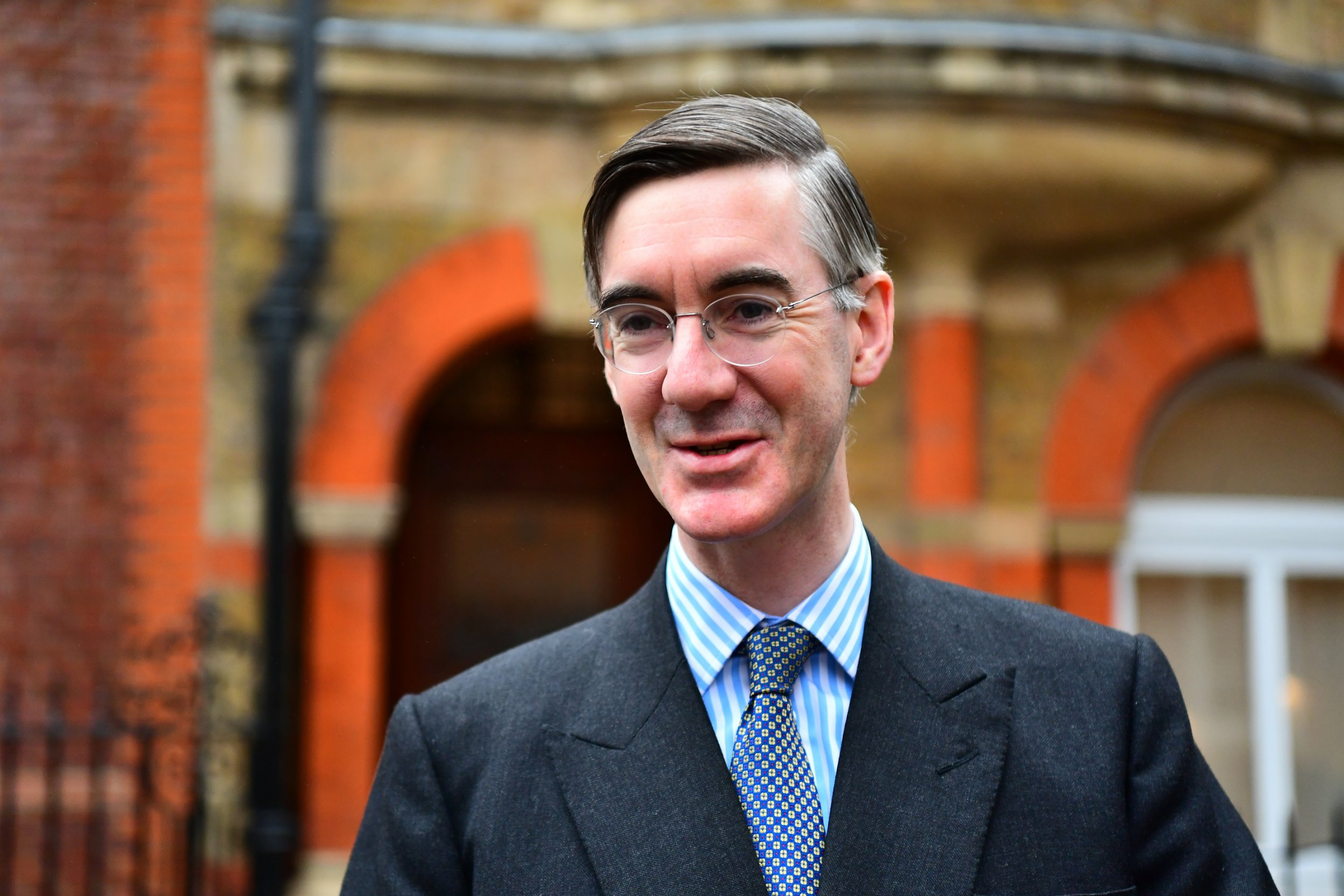 Jacob Rees-Mogg in Westminster, London.