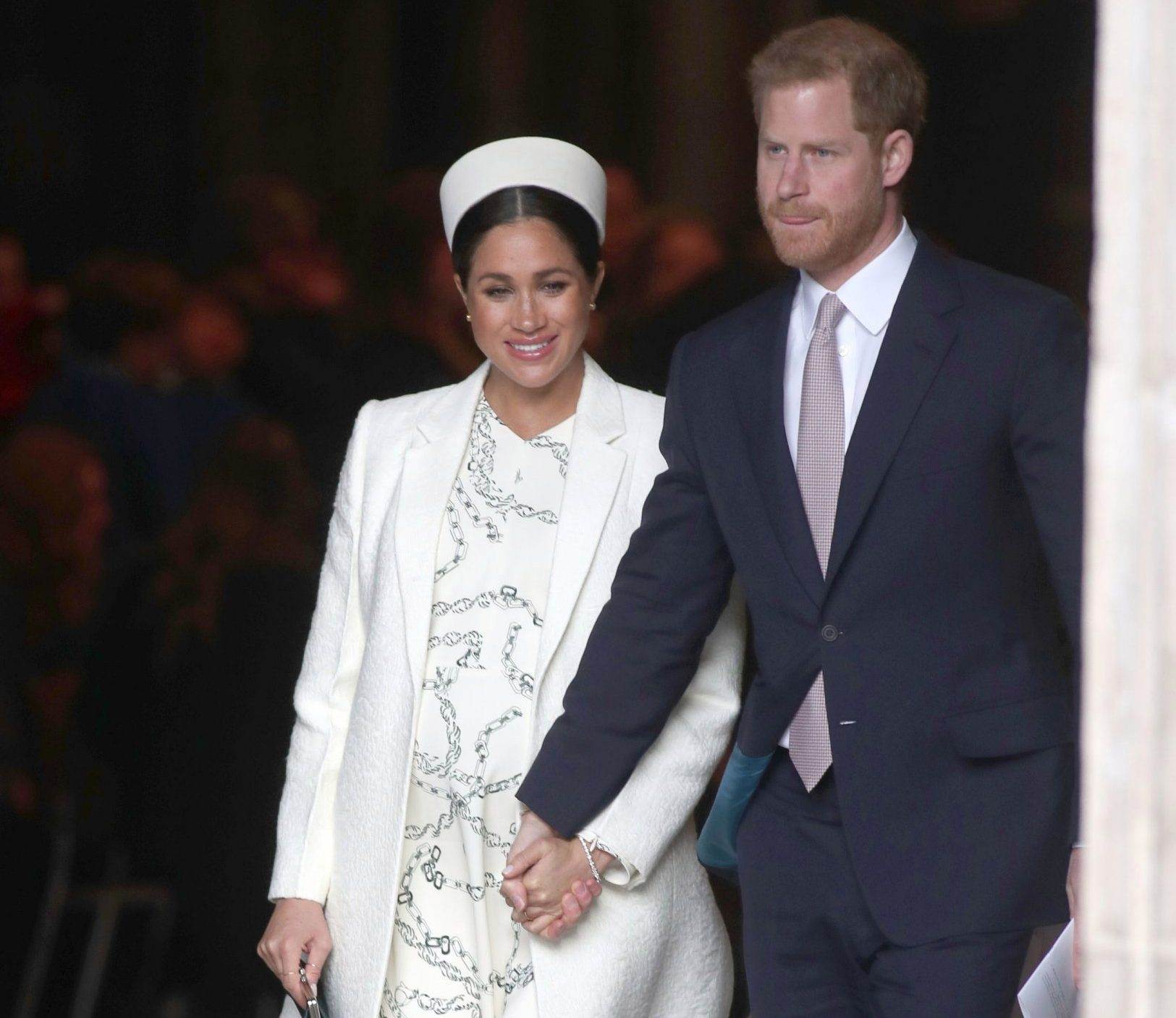 The Duke and Duchess of Sussex leave following a Commonwealth Service at Westminster Abbey, London. PRESS ASSOCIATION Photo. Picture date: Monday March 11, 2019. See PA story ROYAL Commonwealth. Photo credit should read: Steve Parsons/PA Wire