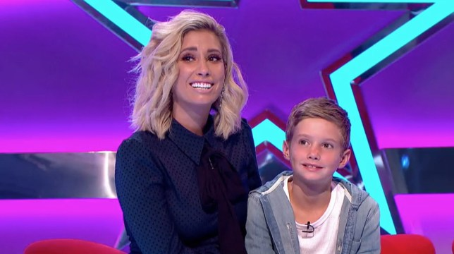 Editorial use only Mandatory Credit: Photo by ITV/REX/Shutterstock (9771835e) Stacey Solomon and her son Zachary. 'Big Star's Little Star' TV Show, Series 5, Episode 1 UK - 2018 Big Star's Little Star, is a British ITV game show presented by Stephen Mulhern. The show sees three celebrity contestants and their children or grandchildren answering questions about each other to win up to ?15,000 for a charity of their choice.