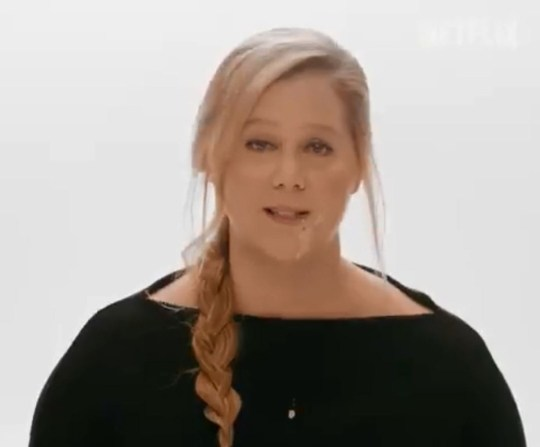 Amy Schumer throws up as she promotes Netflix special and it's something we didn't need to see in high definition