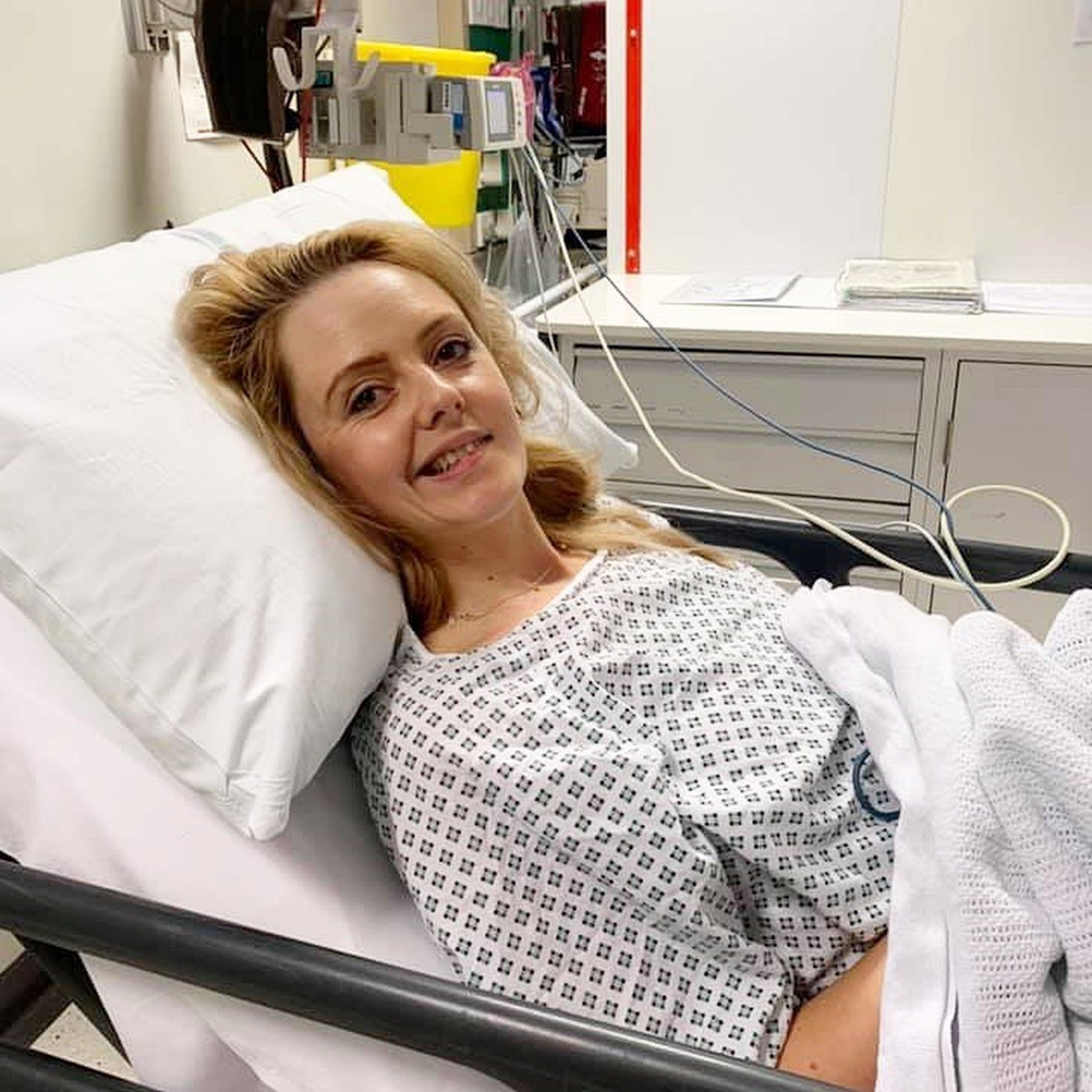 PIC FROM Kennedy News and Media (PICTURED: ISSY FOX IN HOSPITAL AFTER SHE HAD A STROKE CAUSED BY THE PILL) A young mum of just 28 has been left partially paralysed after a sudden stroke due to taking the PILL. Issy Fox had been taking the pill for three months when she suffered a stroke in front of her terrified mother and baby son on February 8. The mum-of-one was rushed to hospital where an MRI scan diagnosed a right frontal lobe stroke, leaving her left hand, arm and part of her face paralysed. SEE KENNEDY NEWS COPY - 0161 697 4266