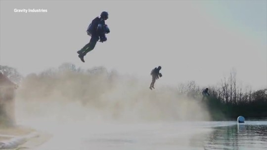 """A British company has been awarded what it claims is the world's first patent for a """"jet suit"""". Gravity Industries' multi-gas turbine engine Jet Suit has been granted the right as the inventor of an apparatus enabling an individual to fly. Company founder Richard Browning has previously demonstrated the suit in more than 20 countries around the world and earned a Guinness World Record in 2017 for """"the fastest speed in a body-controlled jet engine power suit"""". He said the firm now hoped to launch a racing series based on teams using the suit to navigate courses. """"Since launching Gravity in 2017, we have not stopped challenging the status quo,"""" he said. """"Restlessly pioneering developments in STEM, today's patent issuance is a giant milestone for Gravity which will enable us to continue to innovate and hopefully inspire others. """"Our current priority is the launch of a Gravity Race Series in late 2019, which will see a new cohort of diverse pilots putting their flight skills to the test, competing in teams on courses around the world."""" The patent, issued by the UK's Intellectual Property Office, covers: """"A wearable flight system with a number of propulsion assemblies including a left-hand propulsion assembly and a right-hand propulsion assembly worn on a user's hands and/or forearm. """"Preferably a body propulsion assembly is provided with support for a user's waist or torso. Leg propulsion systems may also be provided."""" In documents that formed part of the patent claim, the company cited Marvel Studios' Iron Man character and his use of a wearable flight system which utilises propulsion units worn on the hands. The Jet Suit uses five gas turbines which collectively produce over 1,000 brake horsepower to gain flight, and can reach speeds of over 55mph. The firm said it was already in """"advanced discussions"""" with possible host cities, broadcasters and sponsors over launching its race series in the second half of 2019."""